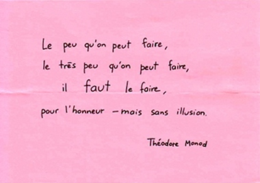 Citation Théodore Monod