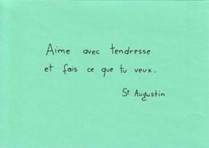 Citation de Saint Augustin