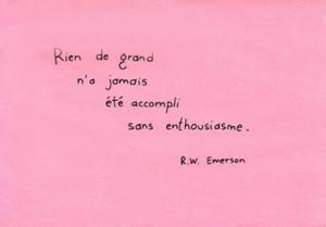 Citation de R.W. Emerson