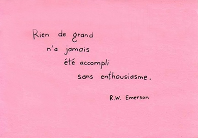 Citation de R.W. Emerson