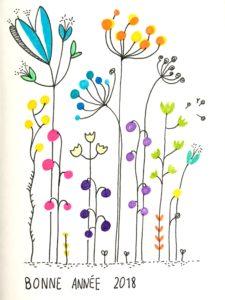 Dessin fleurs des champs