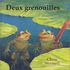 """Couverture du livre """"Deux Grenouilles"""" par Chris Wormell"""