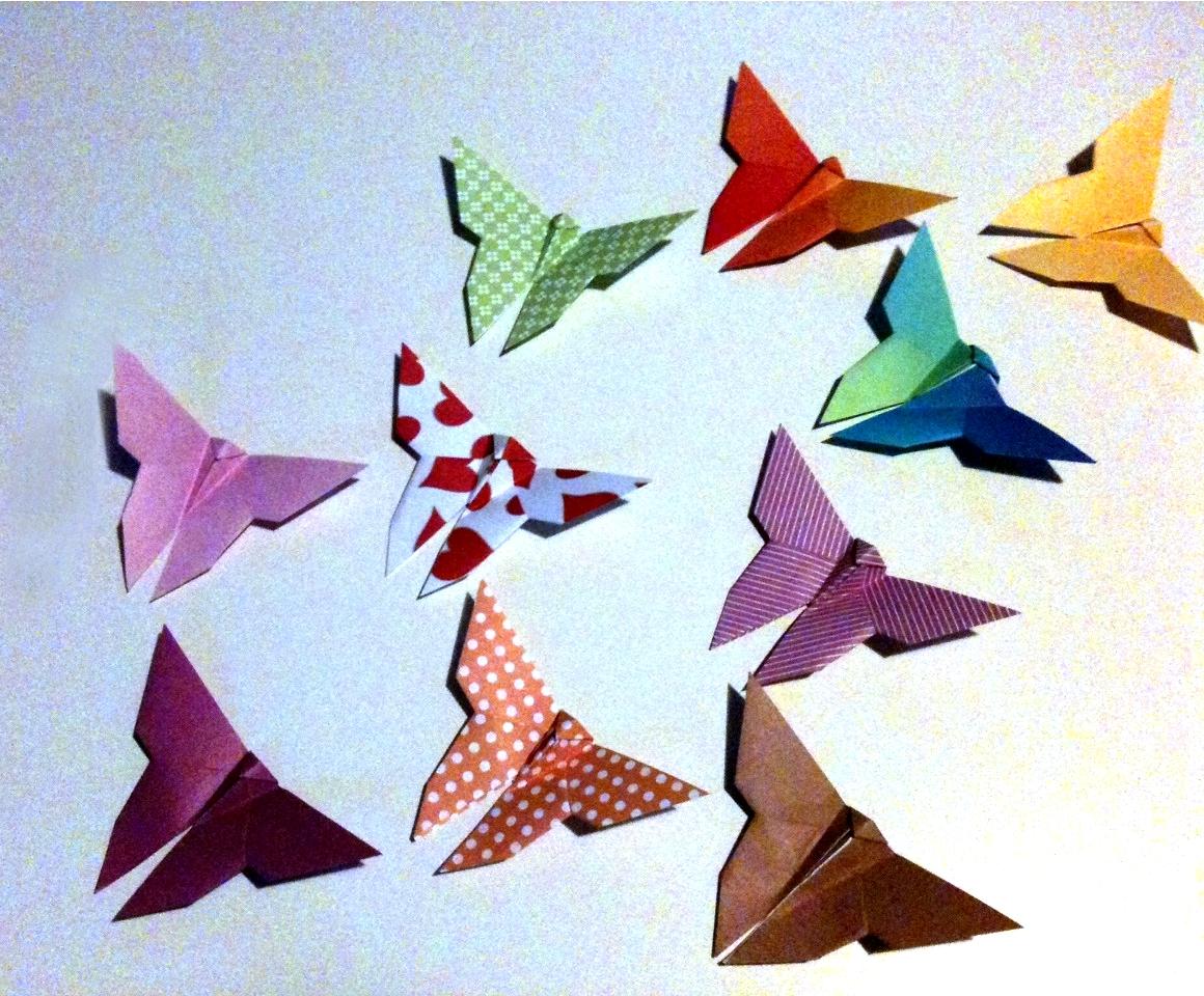 Papillons origami - Février 2013